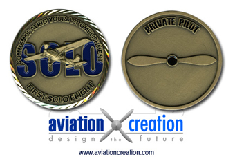 First Solo Flight Recognition Coin Award
